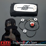Anime Naruto Shippuden Itachi Ring Headband Necklace Itachi Figure Cosplay sets