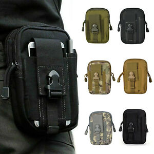 Tactical Waist Pack Pouch Belt Bag Military Camping Hiking Outdoor Phone Holder
