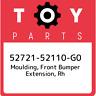 52721-52110-G0 Toyota Moulding, front bumper extension, rh 5272152110G0, New Gen