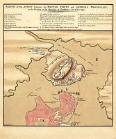 MAP ANTIQUE WAR AMERICAN INDEPENDENCE CHARLESTOWN REPLICA POSTER PRINT PAM1343