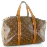 LOUIS VUITTON SAC SOUPLE 35 Old Model Boston Travel Bag Purse Monogram Brown