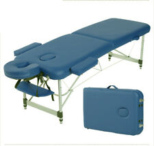 "Blue Aluminum Ultra Light 84"" Portable Massage Table Facial SPA Bed Tattoo"