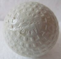 VINTAGE SQUARE MESH GOLF BALL  THE DUFF MADE BY MCDUFF   REPAINTED  CIRCA 1920'S