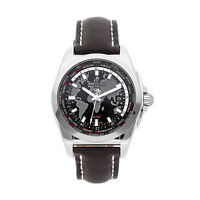 Breitling Galactic Unitime Sleek T Steel Auto 44mm Mens Watch WB3510U4/BD94