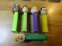 LOT OF 5 PCS PEZ DISPENSER CANDY RARE FIGURE/FIGURINE PIERRE A FEU ETC SET #011