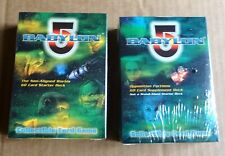 BABYLON 5 THE GREAT WAR NON-ALIGNED WORLDS  & OPPOSITION FACTIONS 60 CARD DECKS