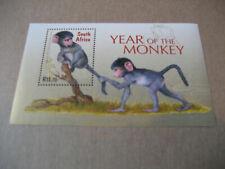 SOUTH AFRICA    2004   LUNAR YEAR- YEAR OF  MONKEY   SOUVENIR SHEET
