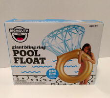 Big Mouth Giant Bling Ring Swimming Inflatable Pool Float NEW In Box