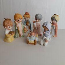 Homco 8 Pc Nativity Sets 5602 5609 Christmas Jesus Joseph Mary Three Wise Men