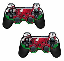 2x Wales Flag Playstation 3 (PS3) Controller Sticker / Skin / 3ps15