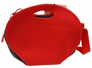 BUILT Medium Red Cargo Camera Bag Crossbody Neoprene Polyester New
