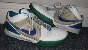 Nike Zoom Kobe IV 4 2009 Draft Day lakers Date Hornets 344335-151 Size 10.5