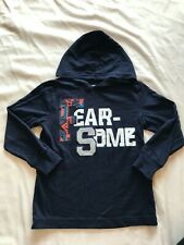 GYMBOREE *HAPPY EXPLORER* FEAR SOME NAVY HOODED BOYS TOP SIZE 6
