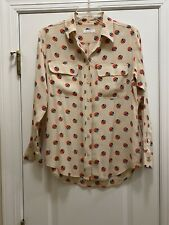EQUIPMENT Slim Signature Multicolor Flap Pocket Silk Blouse Size XS