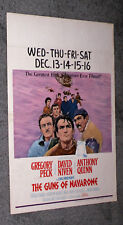 THE GUNS OF NAVARONE original 1961 movie poster GREGORY PECK/STANLEY BAKER