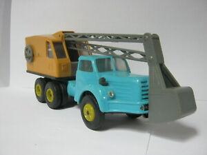 Plastik LKW NOREV Berliet Tracteur TBO 15 mit Baggeraufbau Pelle Mecanique 1/43