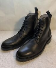 B8 NEW RUSH BY GORDON RUSH Paxton Black Leather Ankle Boots Shoes Size 13 $195