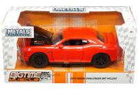 2015 Dodge Challenger SRT HELLCAT Diecast Car 1:24 Jada 8 inch Orange w Black