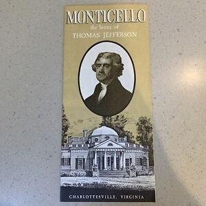Vintage Brochure Monticello the Home of Thomas Jefferson Charlottesville VA