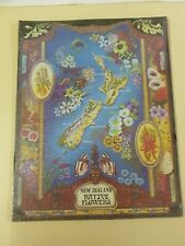 Vtg Souvenir New Zealand Native Flowers Jigsaw Puzzle (165 pcs)*New