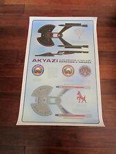 Vintage 1994 Star Trek USS AKYAZI ERMONT Perimeter Action Ship Poster 36 x 23.5