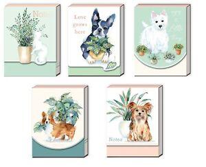 Punch Studio E1 Houseplant Pets 3x4'' 75pgs Pocket Note Pads - Choose Design