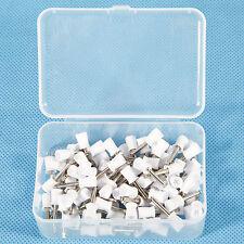 100PCS Dental Teeth Latch type Polishing Cups Polisher Prophy Firm White IT