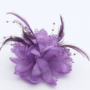 Flower Feather Bead Corsage Hair Clips Fascinator Hairband and Pin-Free shipping