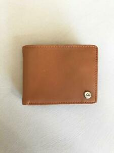 Quiksilver Mens MACK 2 RFID ALL DAY LEATHER WALLET - EQYAA03940 Natural Tan