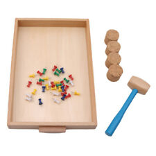 Educational Montessori Toys for Toddlers Daily Life Beating Nails Learning Toy