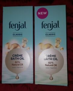 X2 Fenjal Creme Bath Oil 82%Natural Oil Iconic Fragrance 200ml each