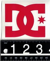 DC SHOES 3.75 IN. RED DECAL DC Shoe Vinyl 3.75 in x 3 in Red Skate Snow Sticker