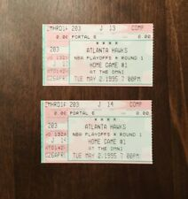 2-1995 ATLANTA HAWKS NBA PLAYOFFS TICKET STUBS-GAME 1