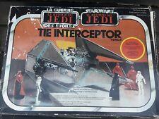 Vintage Star Wars Bilogo Tie Interceptor Box Only 1983