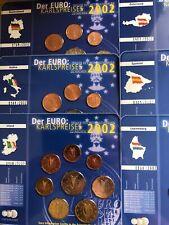 More details for eu countries coins 2002 set x6 bunc 1cent to 2€ karlspreises ge au it sp ir lux