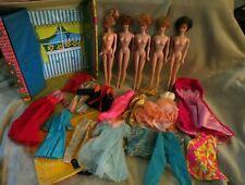 Barbie Vintage Case & Bubblecut Dolls Titian Blonde Hair & Clothes Dolls Tlc Lot