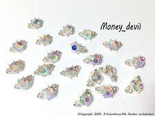NEU Nailart Nageldesign 1 St. 3D Silber & Diamant Strass Mini Charm Overlay NEU