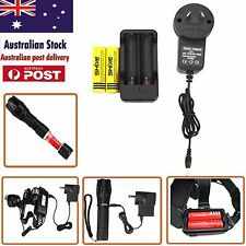 2x 18650 Lithium Battery  And Charger Apply to Flashlight And Headlight AU30