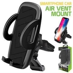 Car Air Vent Phone Holder Cradle - Apple iPhone 12 Pro Max Xr Xs Max Xs X SE 8 +