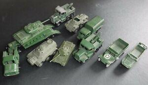 Matchbox Lesney Job Lot of 10 Military Models - Playworn Condition
