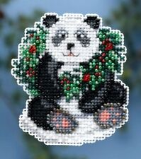 Mill Hill Counted Glass Bead Kit 2.5 x 3 in. ~ HOLIDAY PANDA #18-4304 Sale