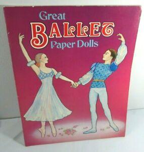 1983 Great BALLET Paper Dolls Book COLOR & CUT OUT Nancie Swanberg