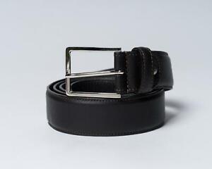 Isaia Napoli NWT Dark Brown Genuine Leather Dress Belt 115 cm 42 US