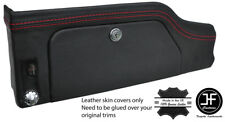 RED STITCHING GLOVE BOX DASH TRIM LEATHER COVER FITS JAGUAR E TYPE SERIES 2