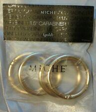 """Miche Gold Carabiners 1.5""""▪Brand New▪Demi▪Classic▪Prima▪Purse/Handbag Repair"""