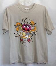 Vtg Muppets Animal Walt Disney World T Shirt Top Kids Drummer Front Back Kids L