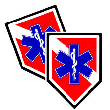 Dive Flag EMS Star of Life Decals Pack Of Two