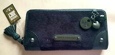 Juicy Couture black with charms Zip suede around purse