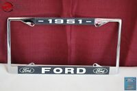 1951 Ford Car Pick Up Truck Front Rear License Plate Holder Chrome Frame New