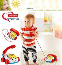 Fisher Price Chatter teléfono Tire a lo largo de teléfono bebé de juguete NUEVO